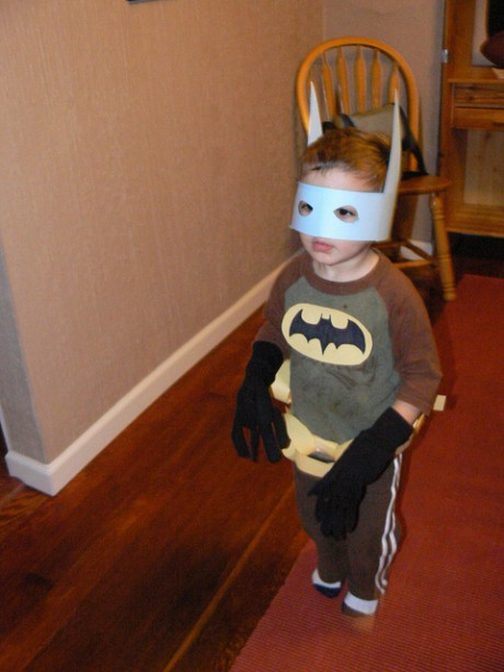 Mom made Batman Halloween costume