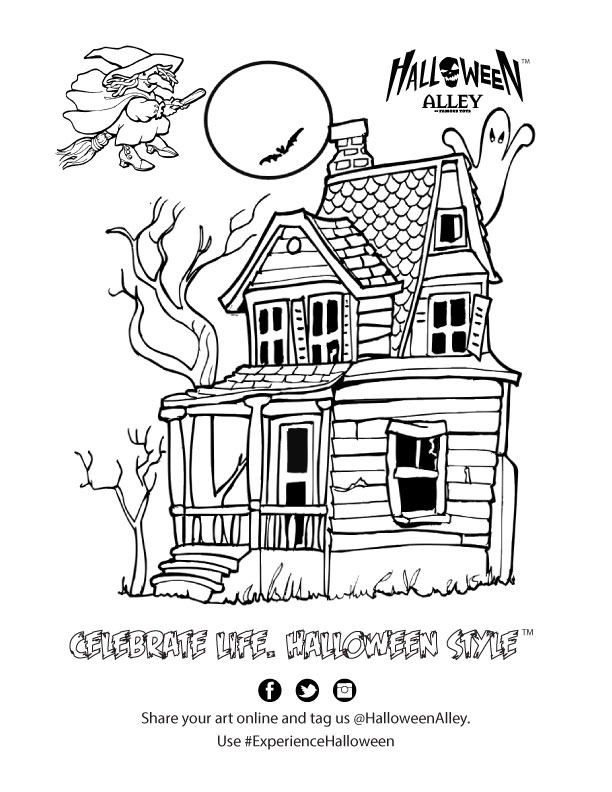 HalloweenAlley-Haunted-House-Colouring-Sheet