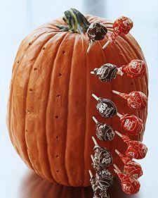 Pumpkin Lollipop Holder