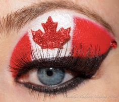 Canada Day Eyelashes