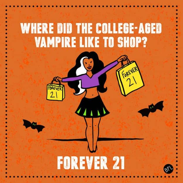 Shopping vampire joke