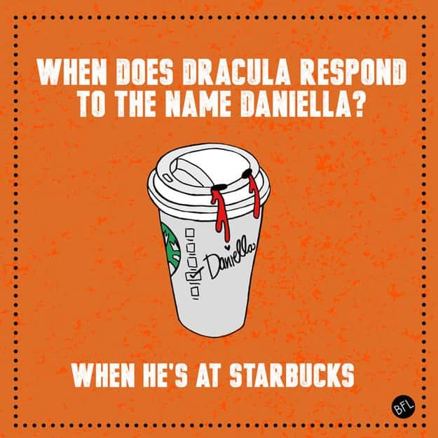 Dracula Starbucks joke