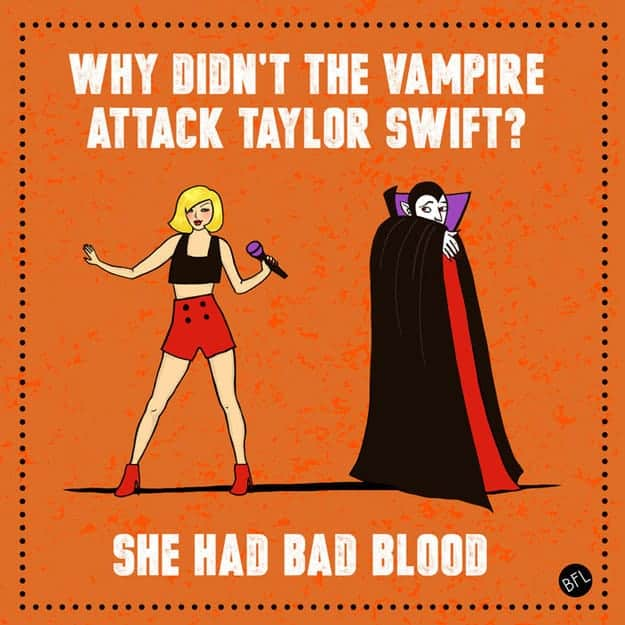 Taylor Swift Halloween Joke