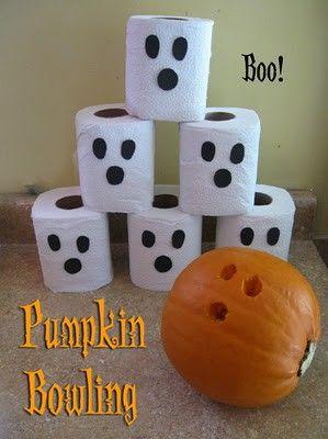 Pumpkin Bowling on Halloween DIY