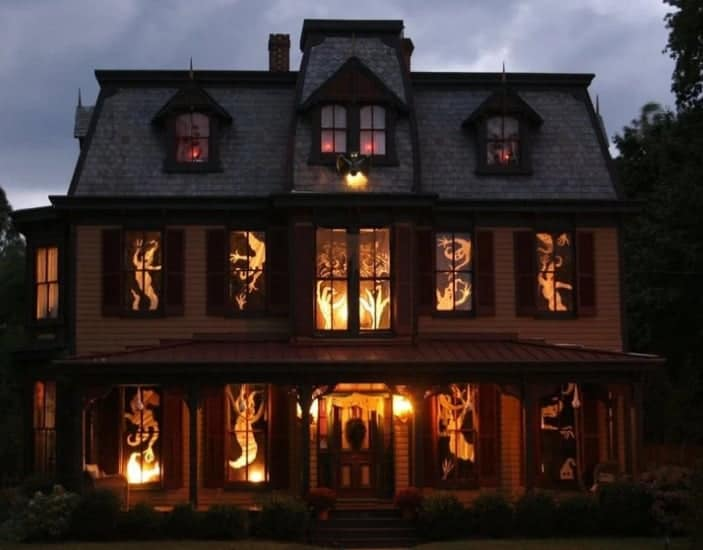 Display of lights at Halloween in Canada