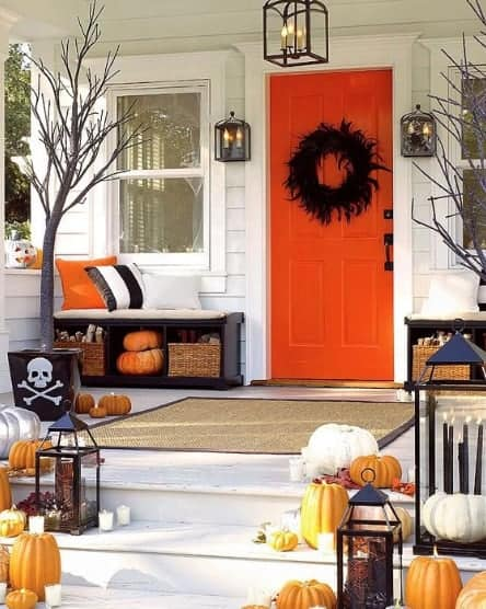 Subtle halloween decoration in Canada