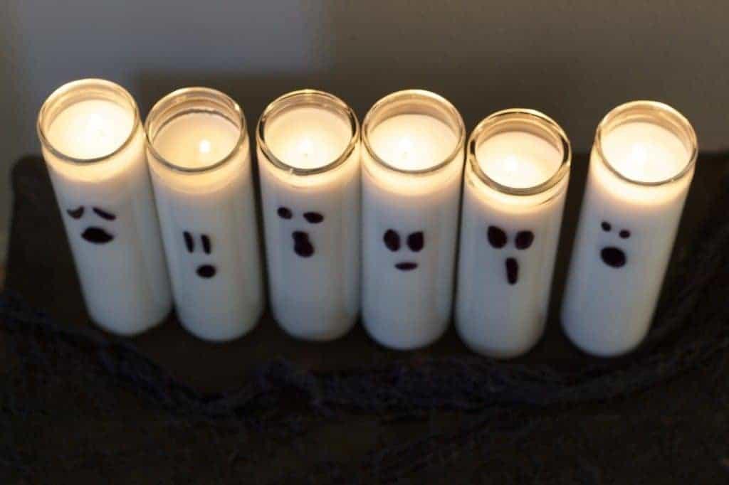 Halloween DIY Ghost Candles