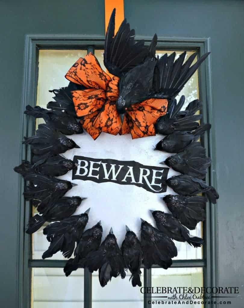halloween-wreath-with-creepy-crows