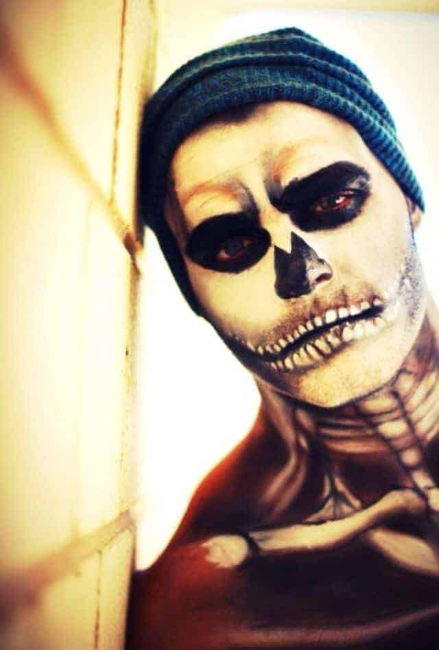 Skeleton Makeup Halloween Men