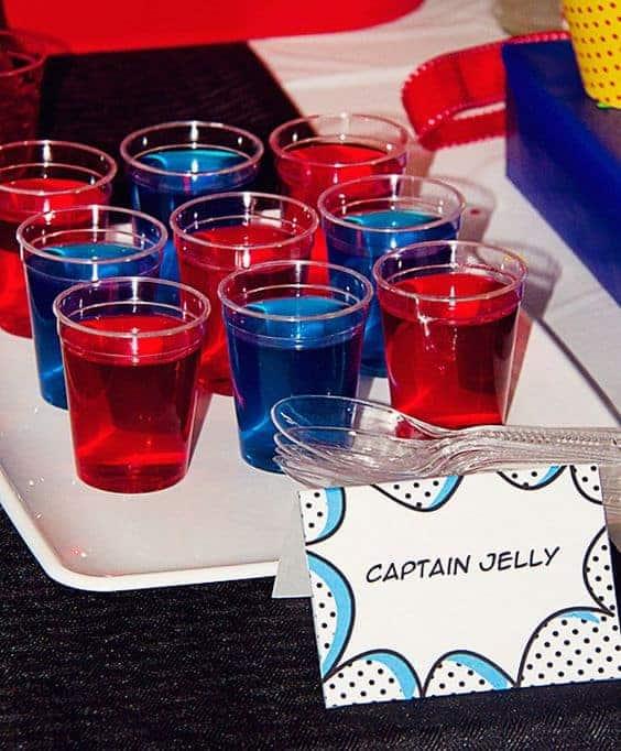 Jello SUperhero Theme Party