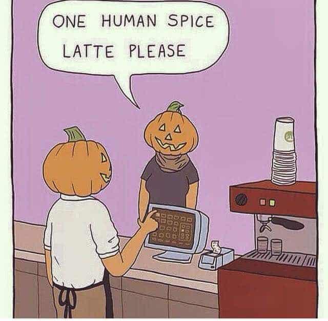 Halloween Jokes Latte