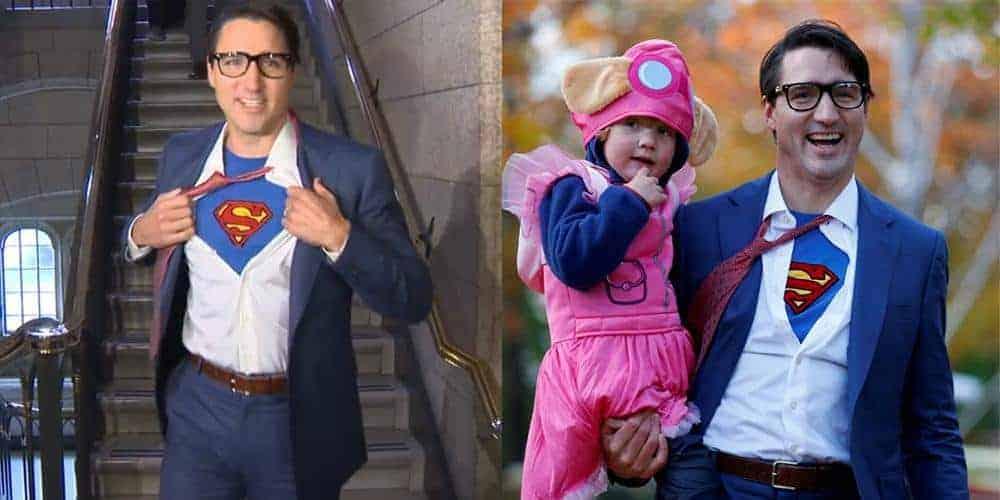 Justin Trudeau Superman Costume