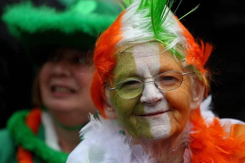 Irish flag face makeup