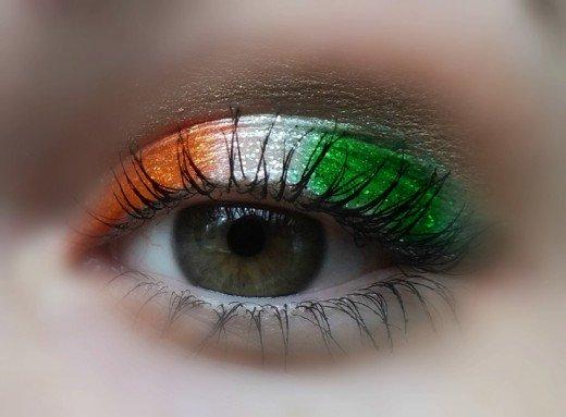 Irish flag eyeshadow